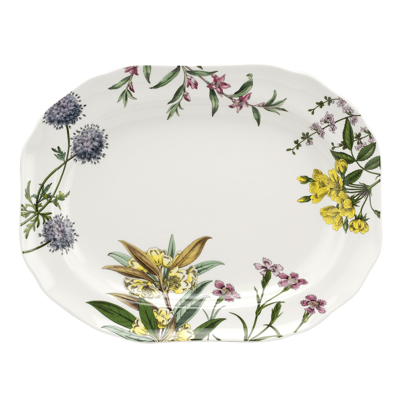 Spode Stafford Blooms 14 Inch Oval Platter image number 0