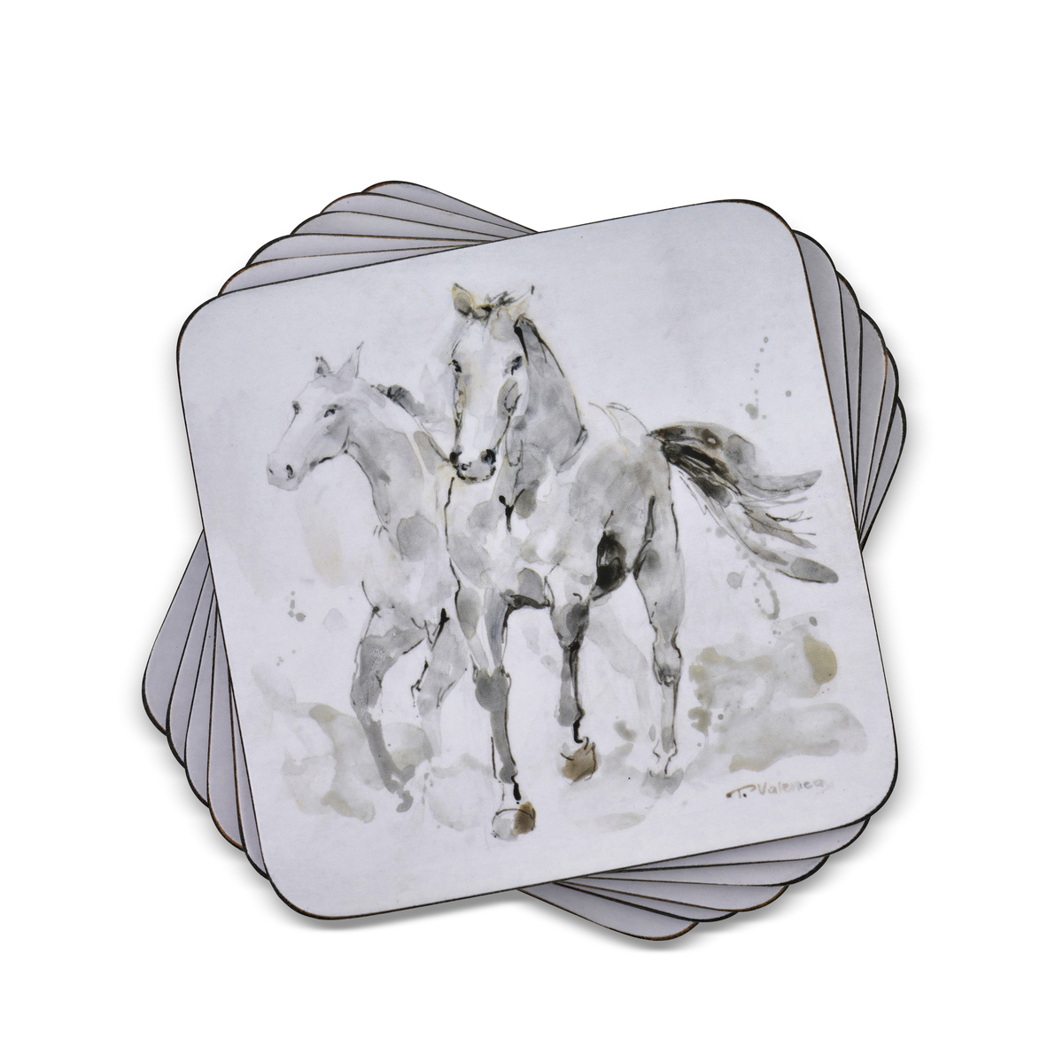Pimpernel Spirited Horses Coasters Set of 6 image number 0