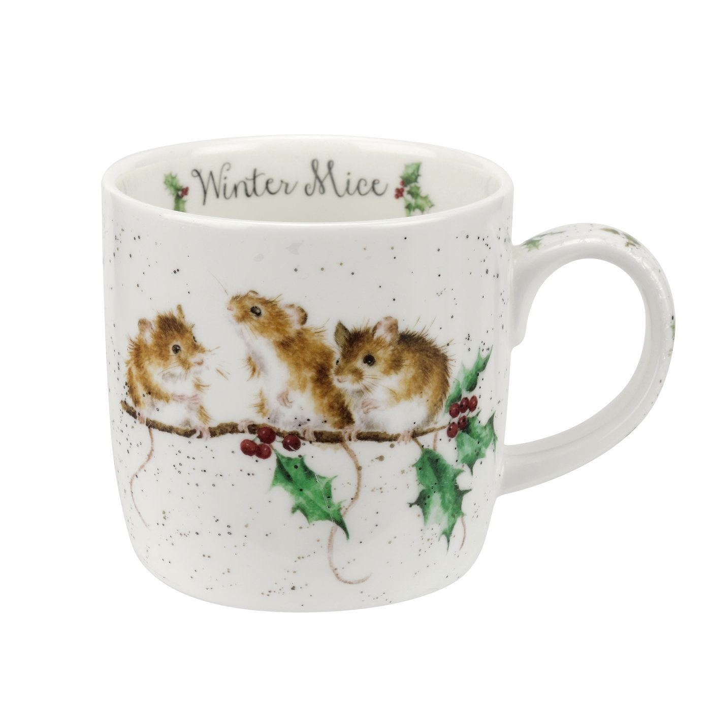 Royal Worcester Wrendale Designs Winter Mice 11 oz Mug image number 0