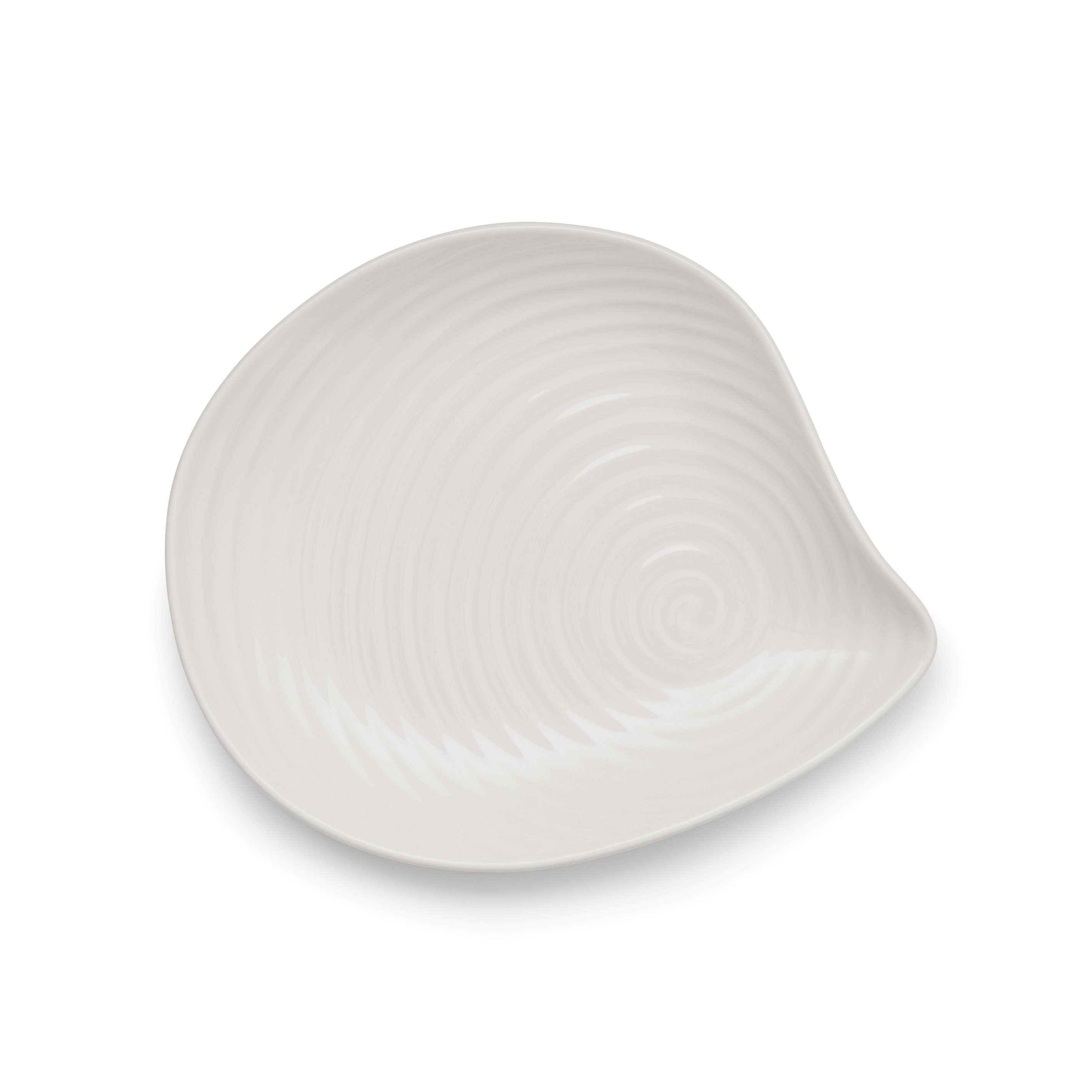 Sophie Conran for Portmeirion 8.75 Inch White Shell Shaped Serving Plate image number 1