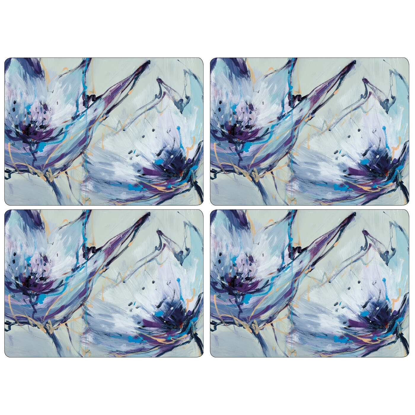 Pimpernel Blooms in Lilac Placemats Set of 4 image number 0