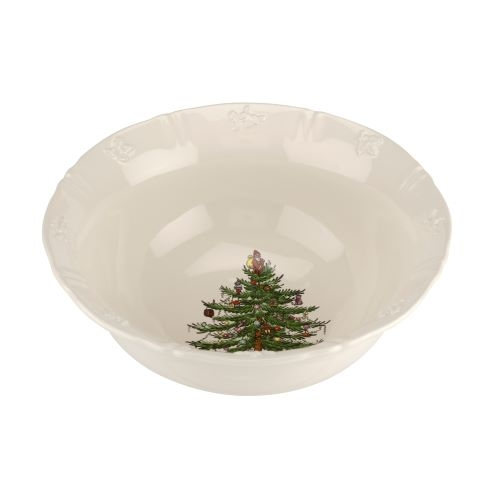 Spode Christmas Tree Embossed 8 Inch Deep Serving Bowl image number 0