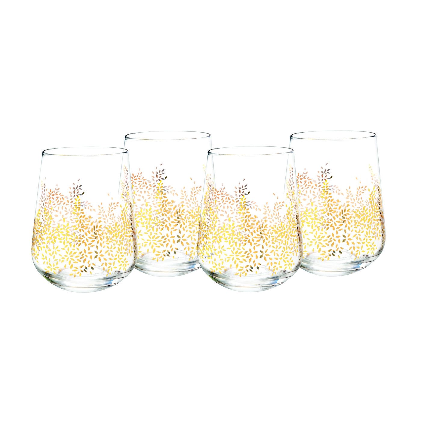 Sara Miller London for Portmeirion Stemless Wine Glass Set of 4 image number 0