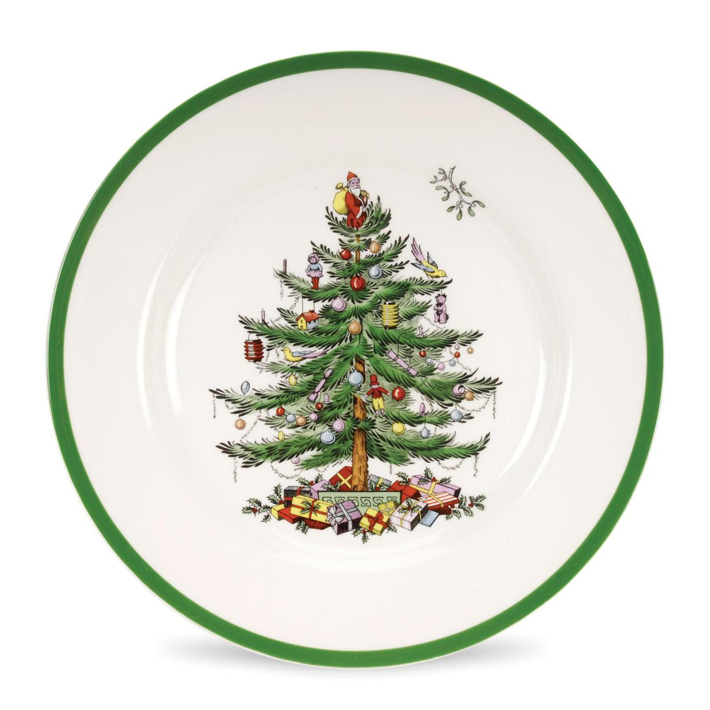 Spode Christmas Tree Set of 4 Dinner Plates image number 0