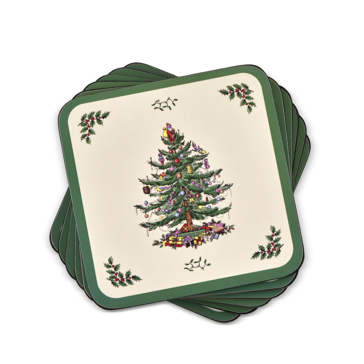 Pimpernel Christmas Tree Coasters Set of 6 image number 0