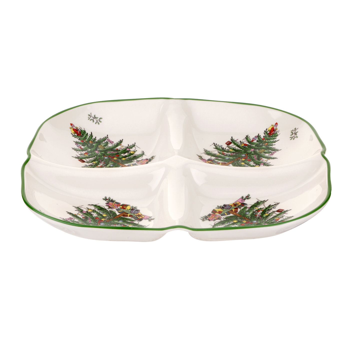 Spode Christmas Tree Sculpted 4-Section Tray image number 0