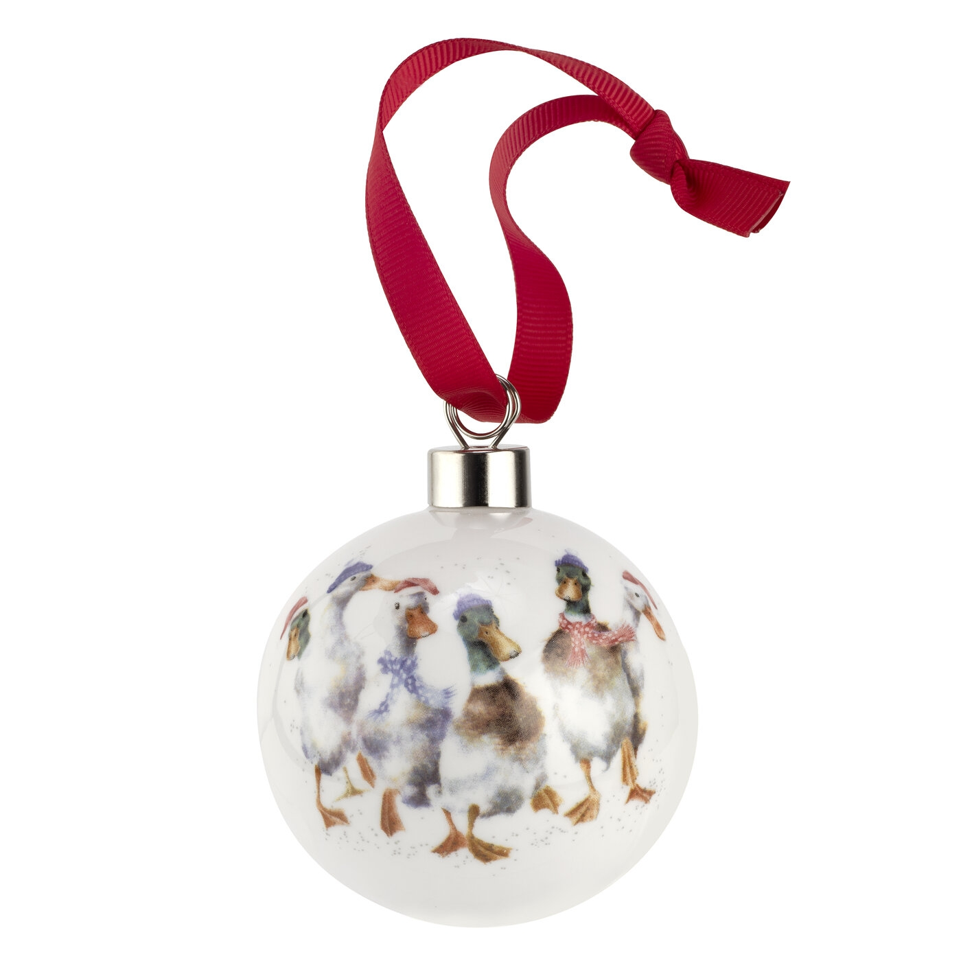 Wrendale Designs Bauble All Wrapped Up (Ducks) image number 0